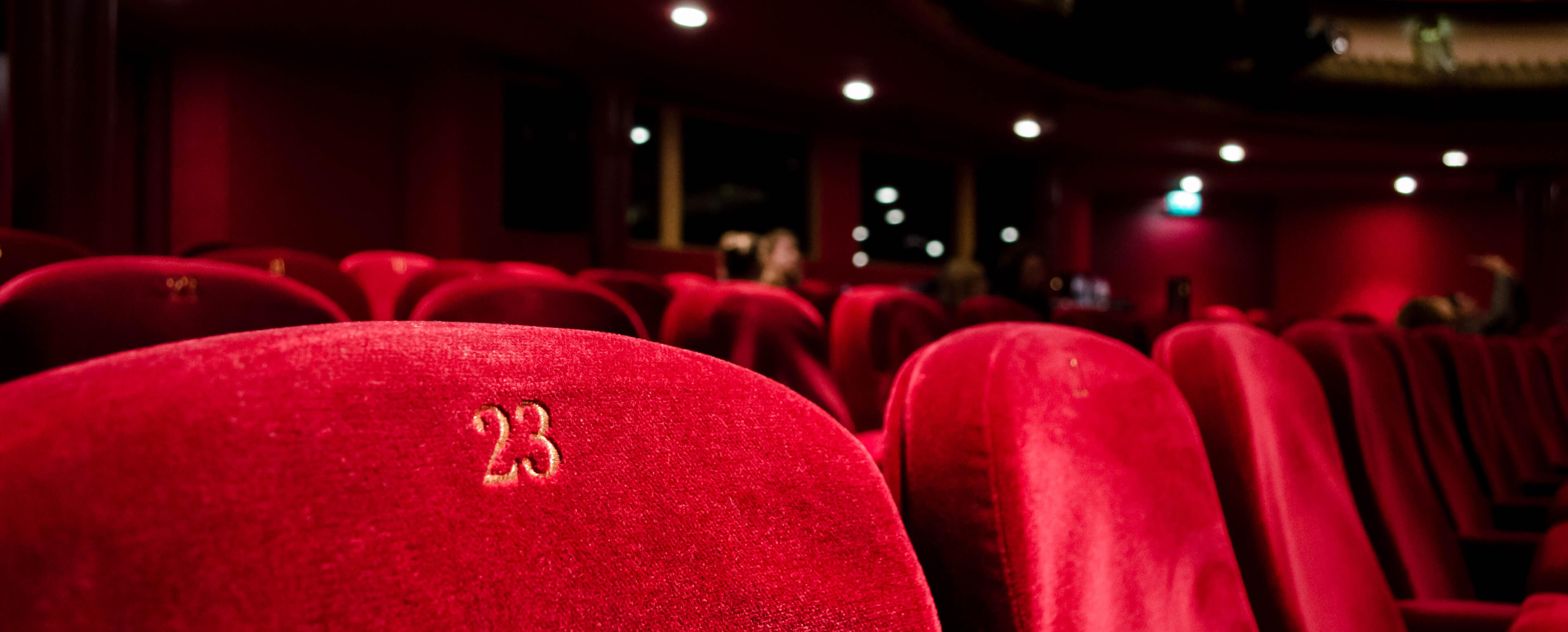 A photograph of theatre seats.