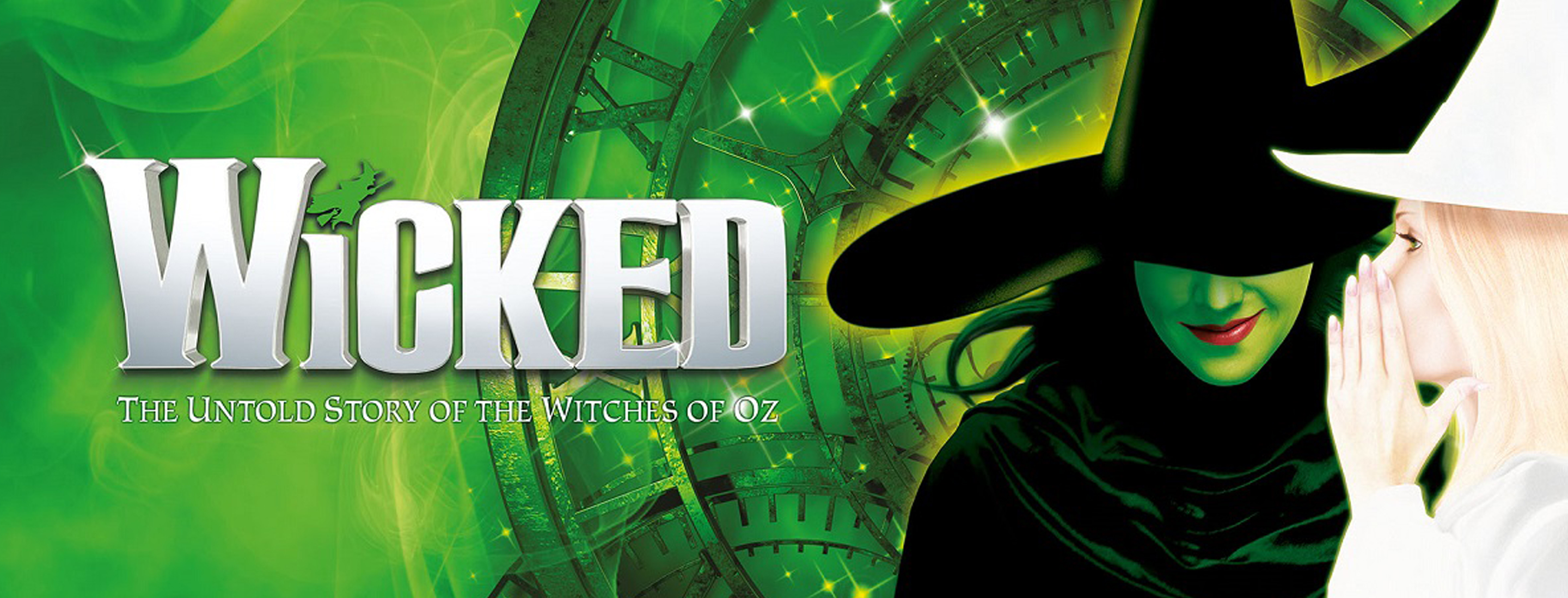 A poster of Wicked the musical.