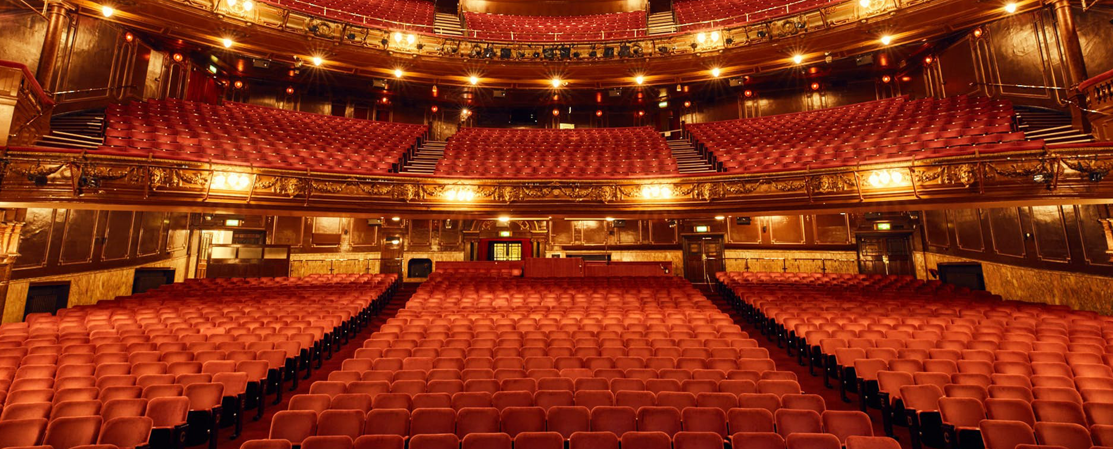 A photograph of the London Palladium auditorium